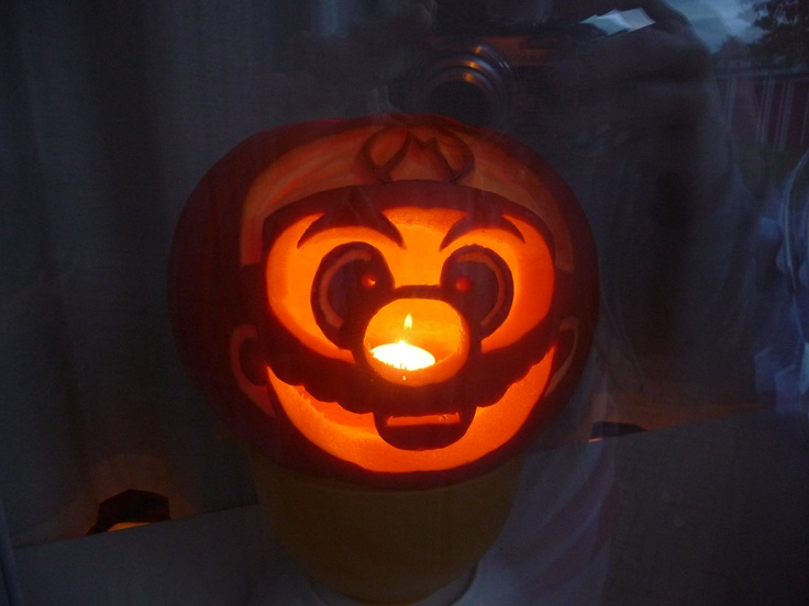 Mario pumpkin holiday halloween pinterest