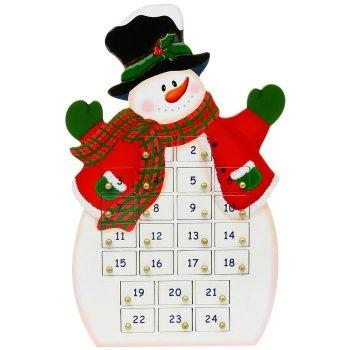 Wooden snowman advent calendar | Craft Board | Pinterest