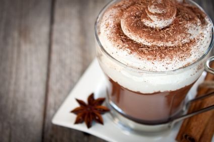 Raw Cafe Mocha with Almond Whip Cream - breakfast if you're in a hurry!