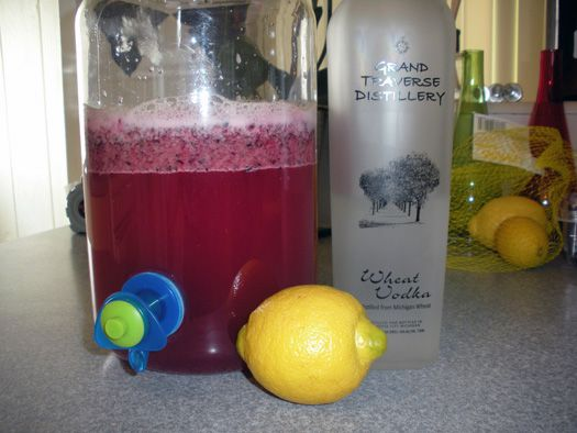 Blueberry mint lemonade with vodka. I made this last summer and it was ...