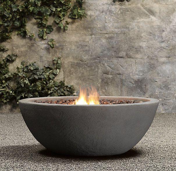 Lava rock natural gas fire bowl backyard ideas pinterest for Outdoor fire bowl