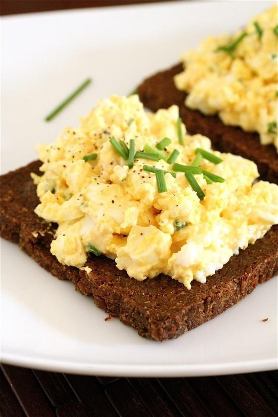 Open-Faced Egg Salad Sandwiches | Breakfast n Eggs | Pinterest