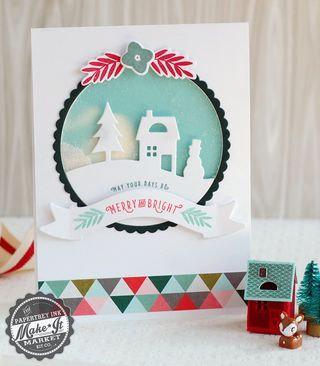 Merry & Bright Shaker Card by Betsy Veldman for Papertrey Ink (September 2014)