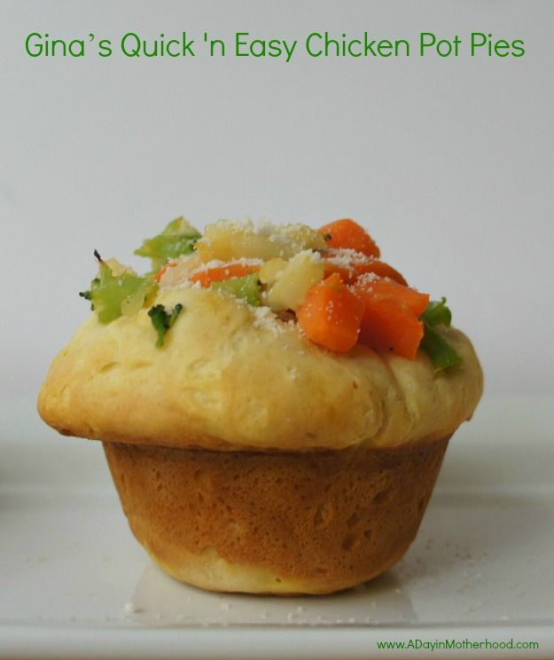 Quick N Easy Chicken Pot Pie Muffin | A Foodie in Training - Savory ...