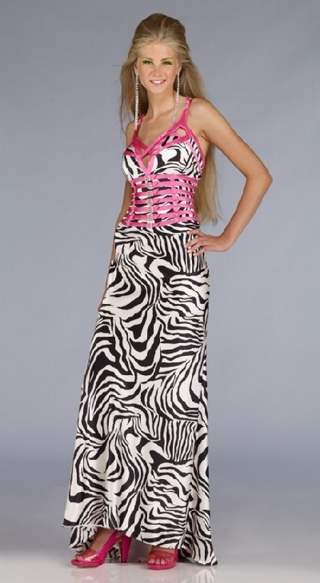 Zebra And Pink Prom Dresses 29