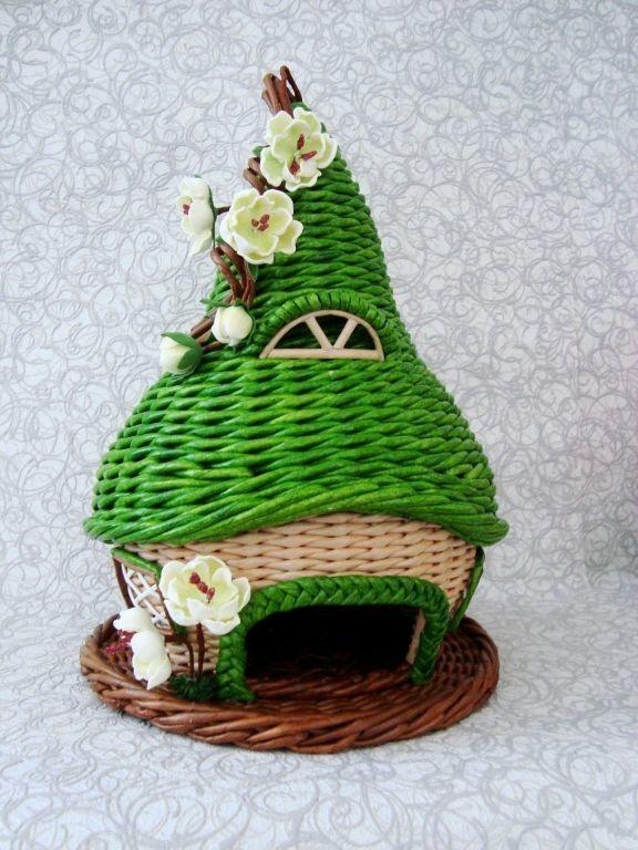 Плетение из газет домик мастер класс - ТД Мануфактура