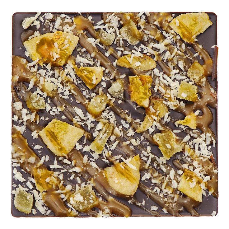 organic banana chips + toasted vanilla coconut flakes + mango caramel ...