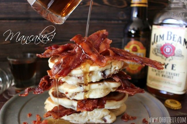 Whiskey Syrup, beer, bacon - Mancakes! | Yummy Yummy!!!! | Pinterest