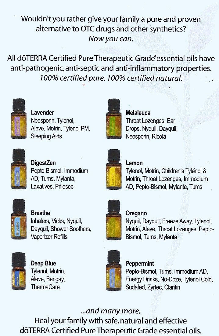 Therapeutic Grade Essential Oils Replace Over-the-Counter Meds