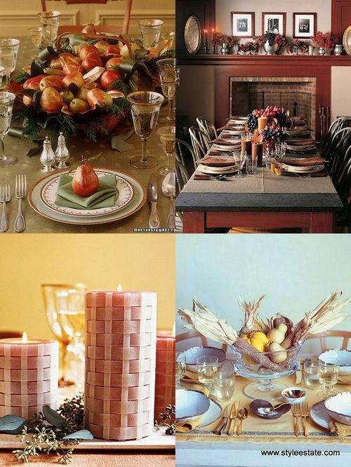 Thanksgiving table home ideas pinterest for Thanksgiving home decorations pinterest