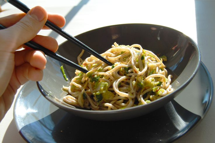 Buckwheat Soba Noodles with Sweet Ginger Scallion Sauce