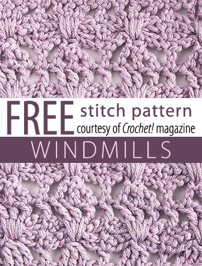 Free Windmills Stitch Pattern from Crochet! magazine. Download here ...
