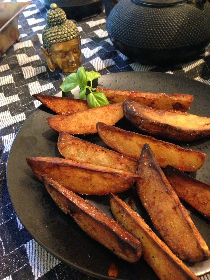 Smoked Paprika Infused Roasted Potato Wedges! Ooh comfort food!