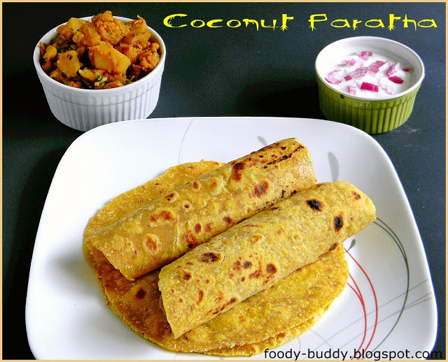Coconut Paratha / Coconut Flat Bread | Recipes to Try | Pinterest
