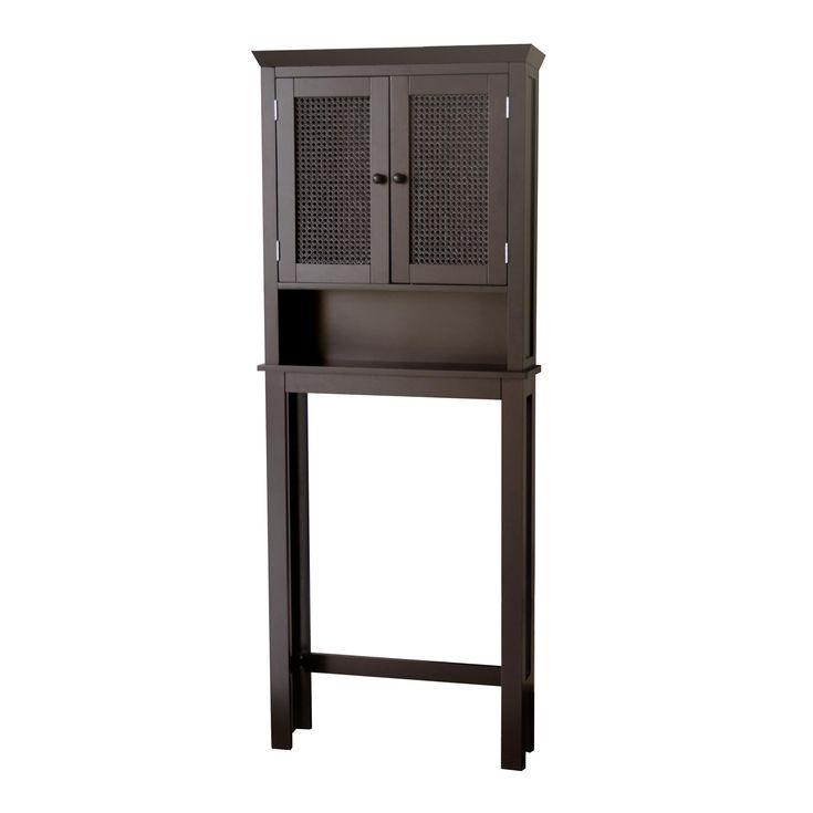 jasper dark espresso space saver bathroom cabinet