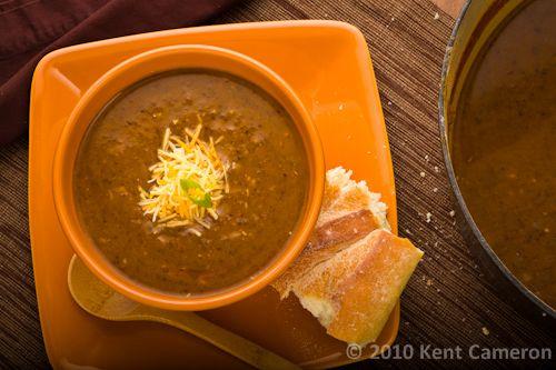 Smoky Black Bean Pumpkin Soup :: black beans, tomatoes, chicken broth ...