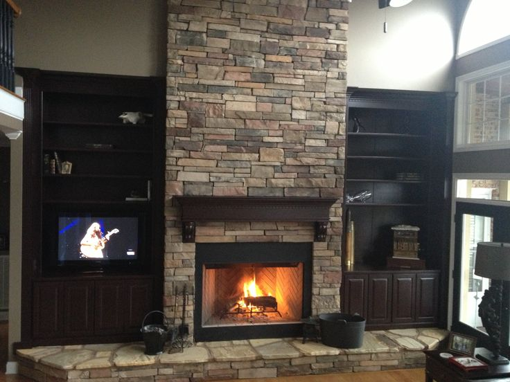 Pin Fireplace Remodel With Tile Refacing Remodeling