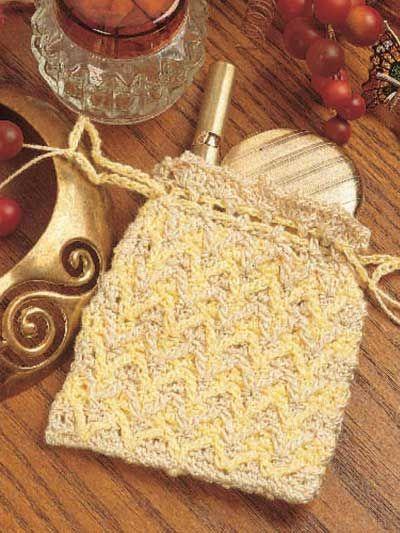 Crochet Pouch Pattern : Crochet Drawstring Pouch: free pattern