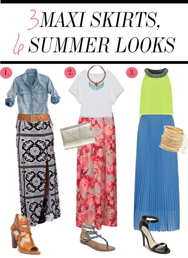 6 ways to wear maxi skirts capsules and inspiration