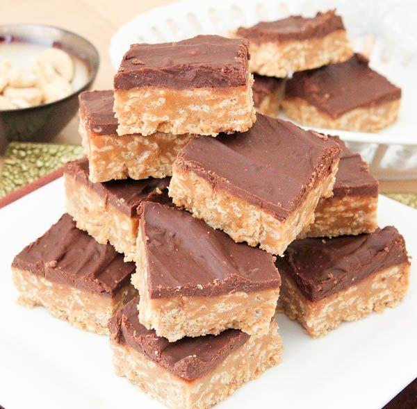 No-Bake Nutter Butter Special K Bars | Sweet Tooth | Pinterest