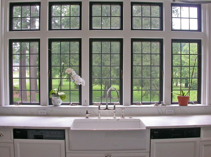 Hello kitchen windows above my sink windows love the for Kitchen designs with lots of windows