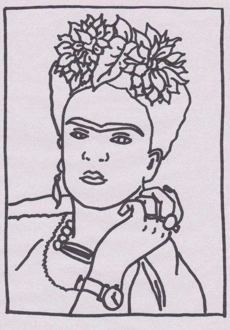 Frida Kahlo Coloring Pages Sketch