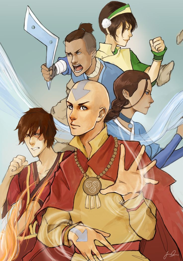 The gaang by magicalzebra on deviantart avatar the last airbender