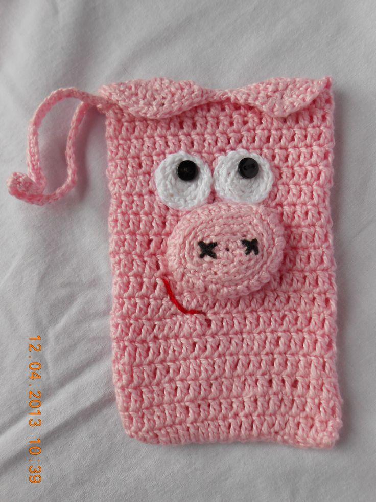 Porquinha rosa | CAPAS DE CELULAR DE CROCHÊ | Pinterest