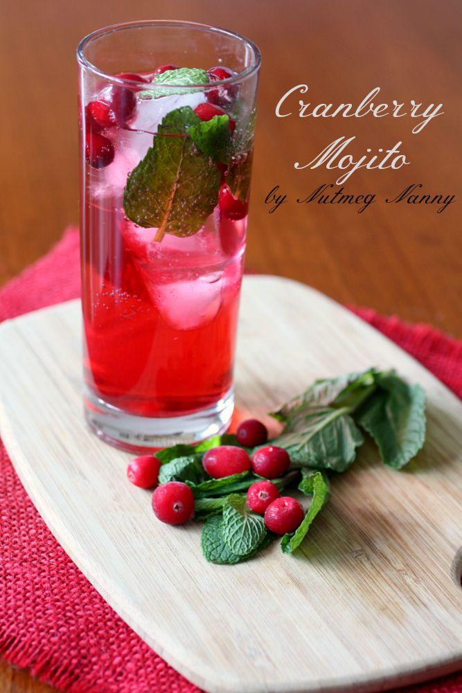Cranberry Mojito by Nutmeg Nanny {The Twelve Boozy Days of Christmas}