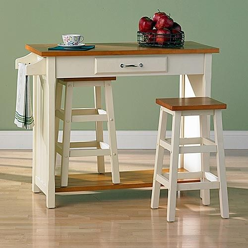 Nantucket 3 piece small breakfast set with nesting stools dining