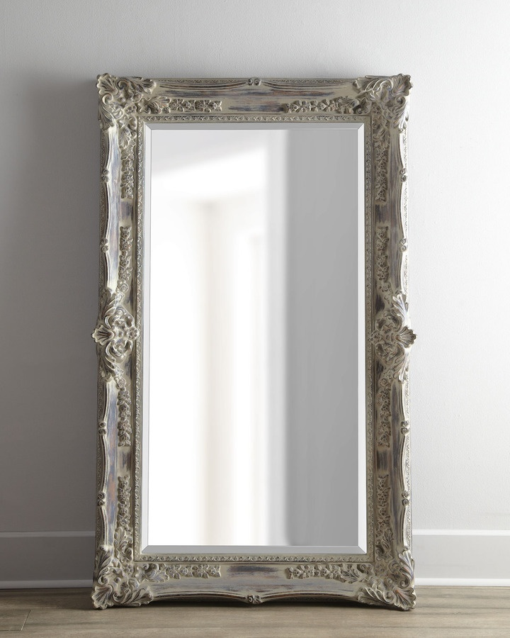 Antique french floor length mirror