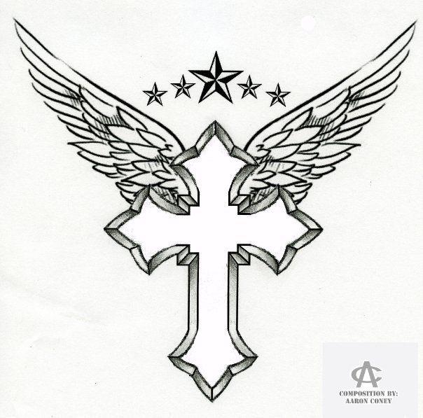 Cross Drawings With Flowers Cross tattoos