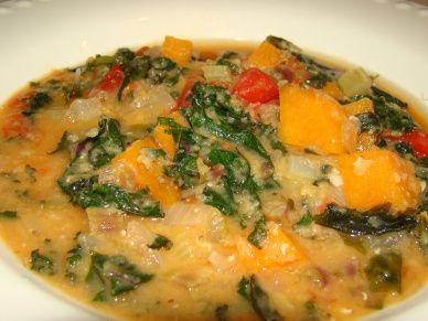 Asian Red Lentil and Kale Stew from Our Little Family Adventures