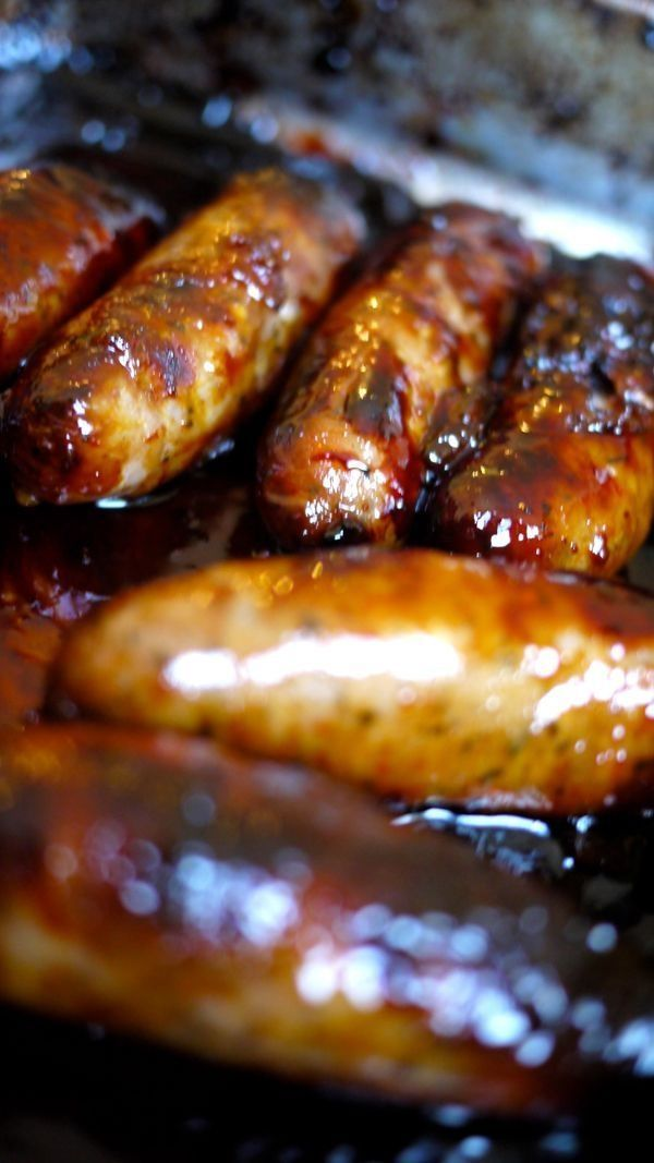 Roasted sausages in orange marmalade.. | Food and Drink | Pinterest