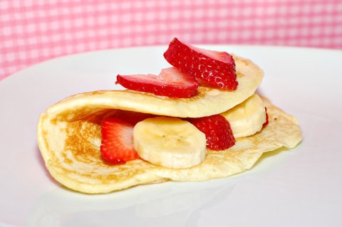 Strawberry banana crepes recipe | My Recipes | Pinterest