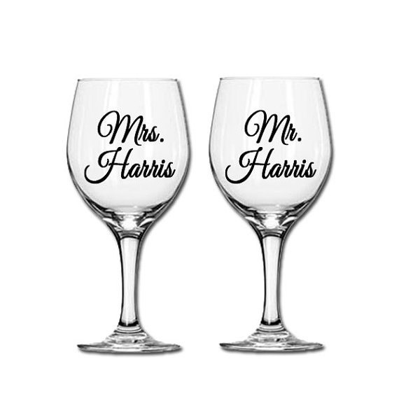 Wedding Personalised Wine Glasses : Personalized wedding glasses Wine Glasses Pinterest