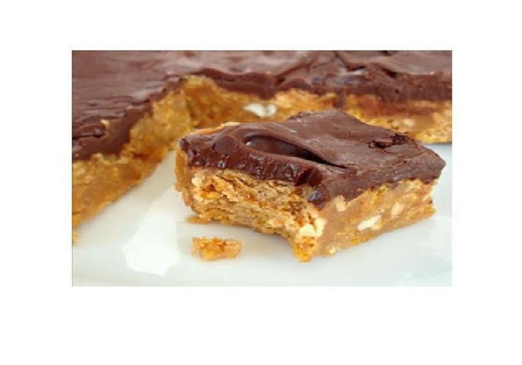 ... like this: corn flake bars , corn flakes and chocolate peanut butter