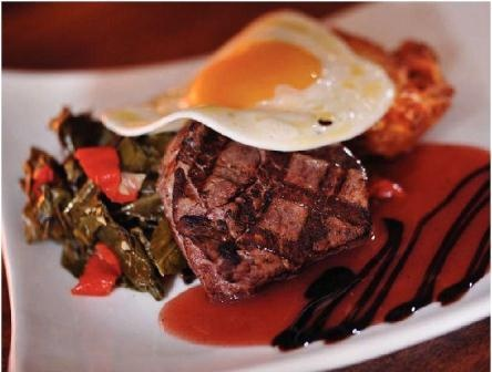 Fried Eggs And Collard Greens Over Polenta Recipes — Dishmaps
