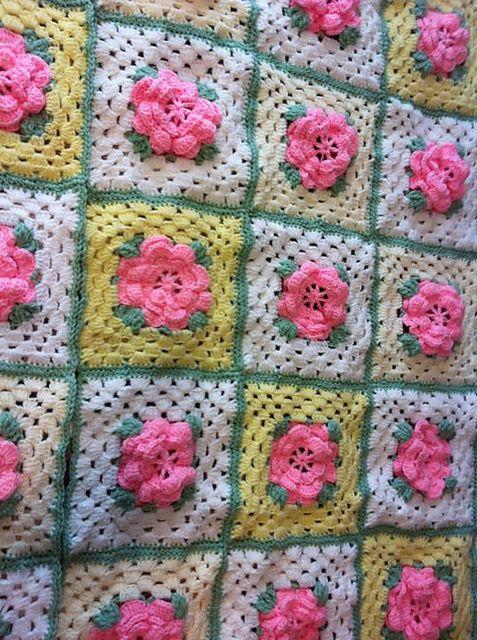 Crochet Pattern Rose Trellis Afghan : Rose Trellis Afghan Crochet Blankets Pinterest