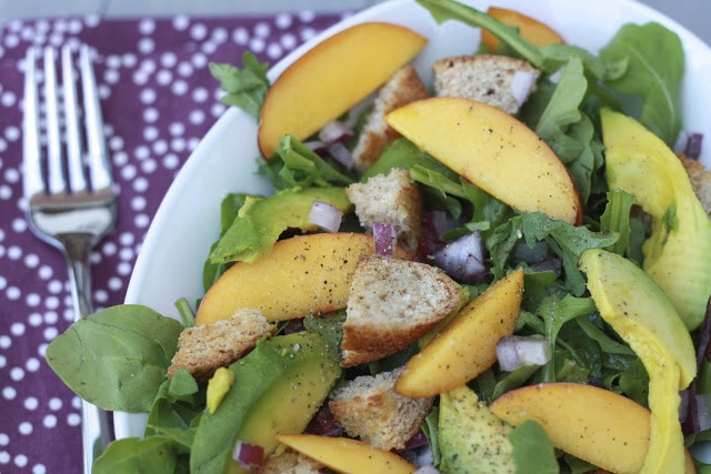 Avocado Salad With Peaches Recipe — Dishmaps