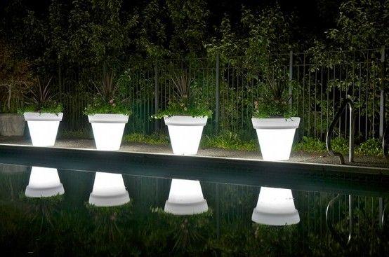 Pot-light-modern-swimming-pool-decorating