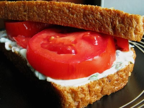 Heirloom Tomato Sandwich With Basil Mayo | Recipe