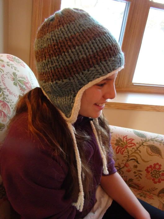 Free Knitting Pattern Hat With Ears : Earflap Hat Knit Pinterest