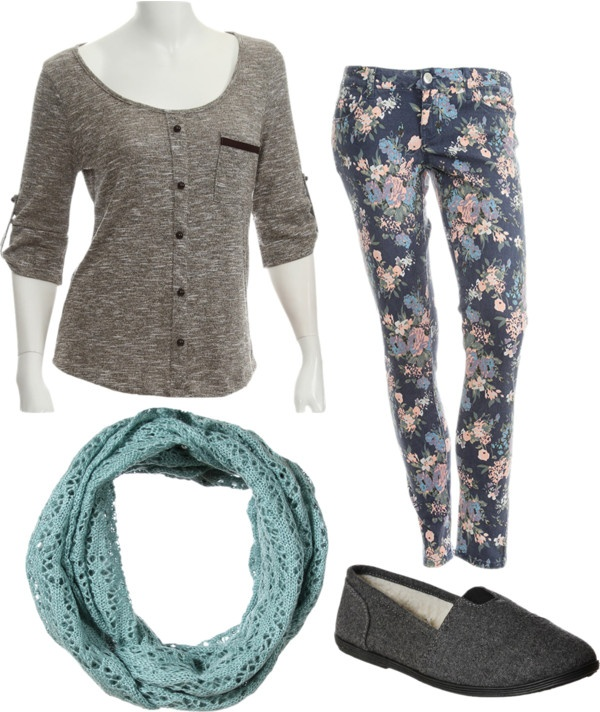 "Blue & Grey"" by tbomb-1 liked on Polyvore"