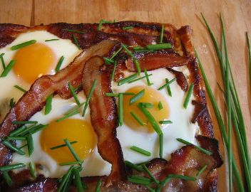Fried Eggs With Ramps And Bacon Recipes — Dishmaps