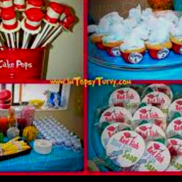 baby shower cat in the hat