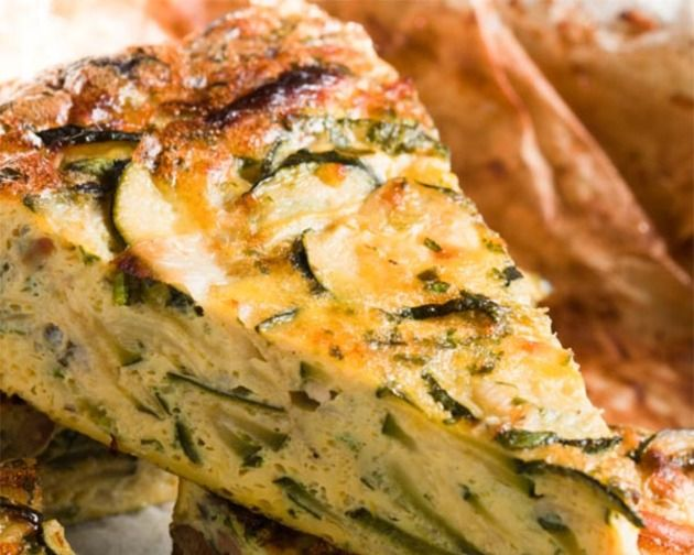 Zucchini Frittata LUNCH, makes 4 servings