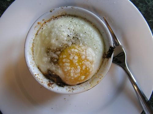 Baked egg with mushrooms and onions. another ramekin egg meal. read ...