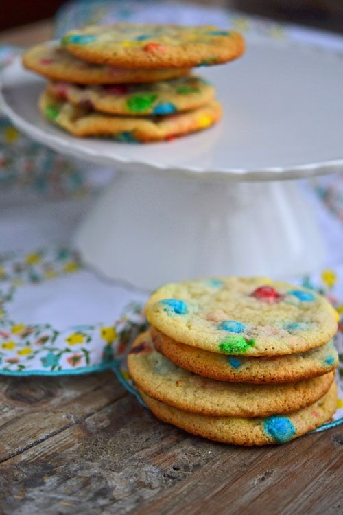 Gluten Free Chocolate Chip Cookies: with a cake mix + M