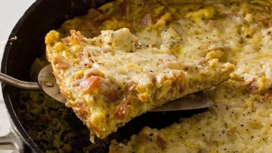 Lorraine Frittata...bacon, onions & gruyere cheese, cooked up in a ...